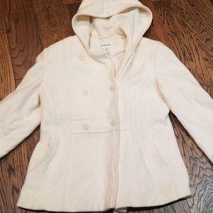 St John's Bay cashmere blend hooded coat.